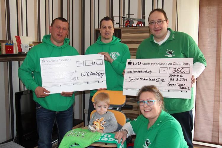 Wir helfen Jannik: Werder-Fanclubs überreichen Spende