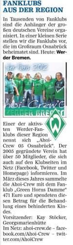 Porträt in der Neuen Osnabrücker Zeitung