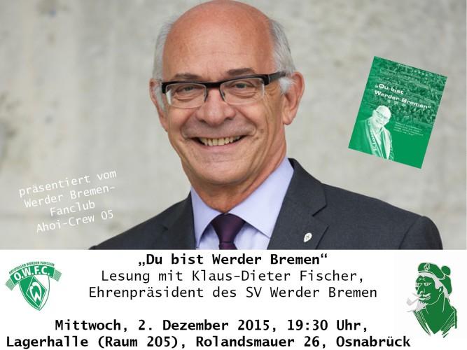 Ex-Werder-Präsident liest in Osnabrück