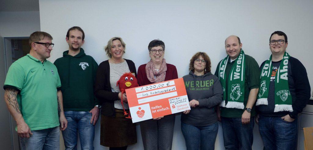 Werder-Fans spenden 1.000€ für Osnabrücker Kinderhospiz
