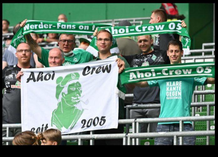 Endlich wieder im Stadion: Ahoi-Crew bei Werders Heimspiel gegen Hannover 96